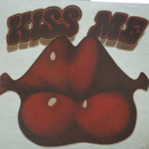 Rare Vintage Kiss Me Iron-On Transfer Dead Stock